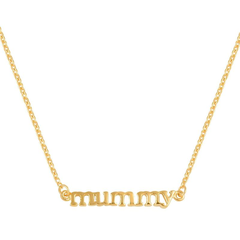 14K Yellow Gold Platinum Over Sterling Silver Mummy Necklace (Photo: Ebay)