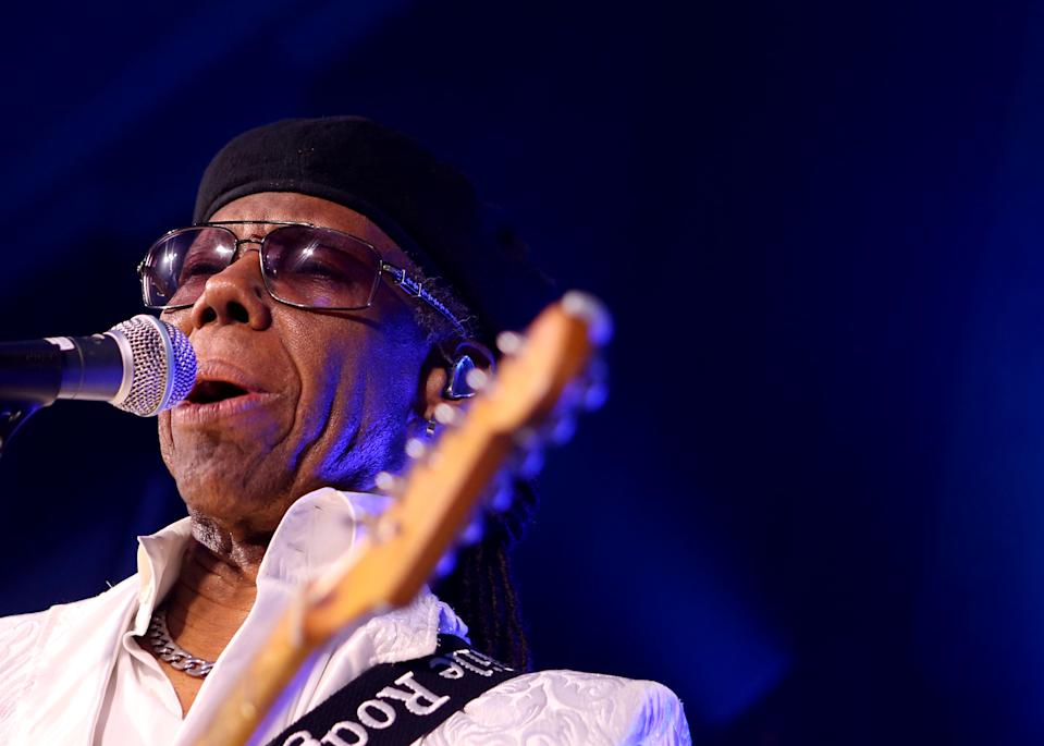 Nile Rodgers performing at his Brit Awards viewing party fundraiser to benefit the Brit School and We Are Family Foundation at The Ned, London. (Photo by Lauren Hurley/PA Images via Getty Images)