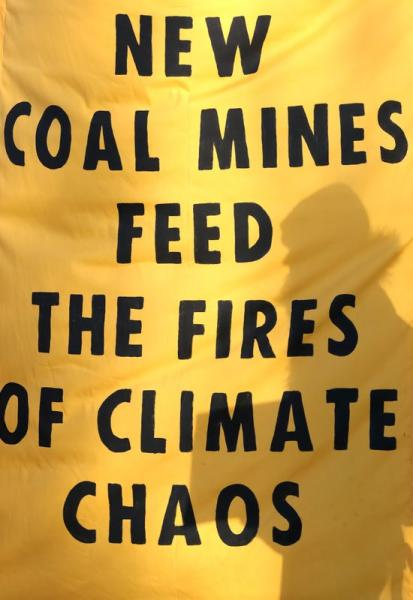 XR protest at Banks Group's open-cast coal mine in Bradley