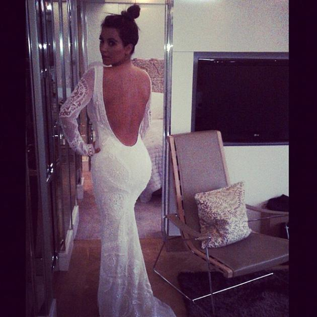 Celebrity photos: Kim Kardashian sparked marriage rumours this week after she tweeted a photo of herself wearing a wedding dress. Despite not being divorced from Kris Humphries yet, we wouldn't be surprised if she and Kanye West headed up the aisle soon – they seem pretty loved up.