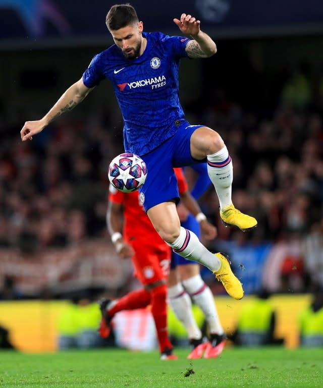 Chelsea's Olivier Giroud is reportedly happy to stay with the Blues (Mike Egerton/PA)