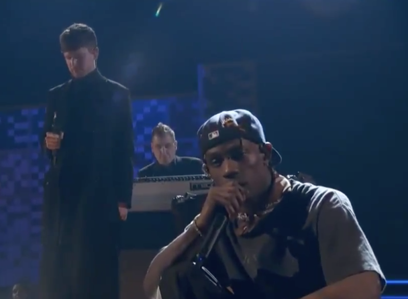 "Travis Scott and James Blake ""f*ck the club up"" at 2019 Grammys: Watch"