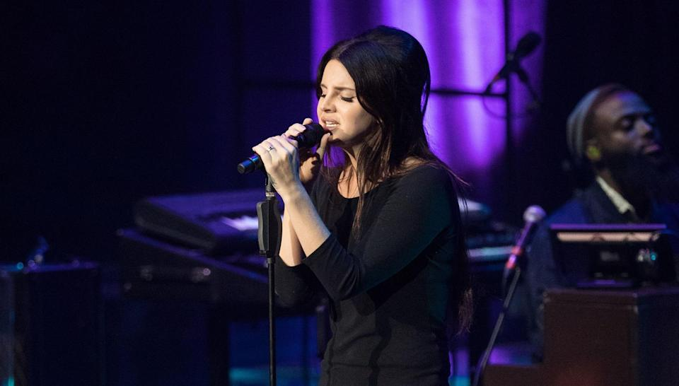 Lana also made allegations about the lawsuit on stage. Copyright: [Rex]
