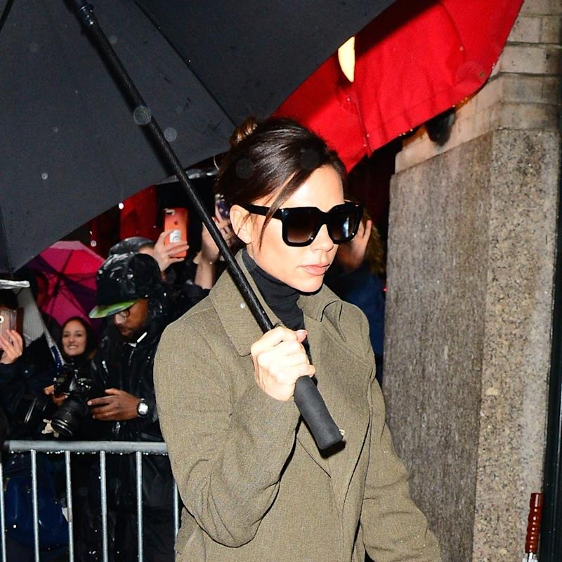 9ac365069e7 Victoria Beckham s Rainy Day Uniform is Plucked Straight From Her Fall 2018  Runway Show