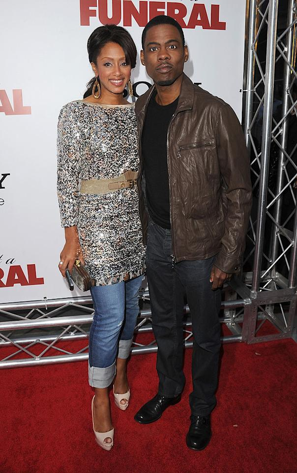 """<a href=""""http://movies.yahoo.com/movie/contributor/1800019115"""">Chris Rock</a> and wife Malaak at the Los Angeles premiere of <a href=""""http://movies.yahoo.com/movie/1810077967/info"""">Death at a Funeral</a> - 04/12/2010"""