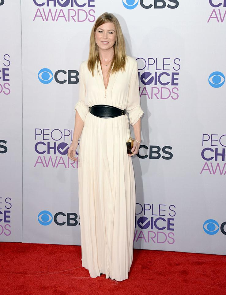 Ellen Pompeo attends the 39th Annual People's Choice Awards at Nokia Theatre L.A. Live on January 9, 2013 in Los Angeles, California.