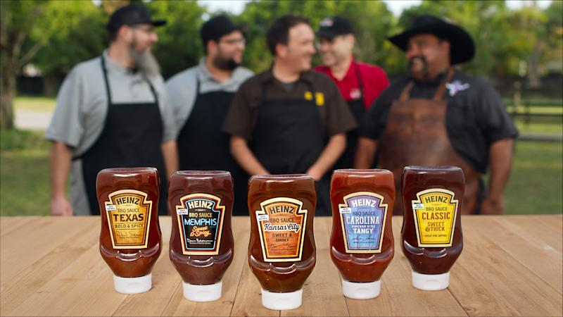 Five new Kraft barbecue sauces