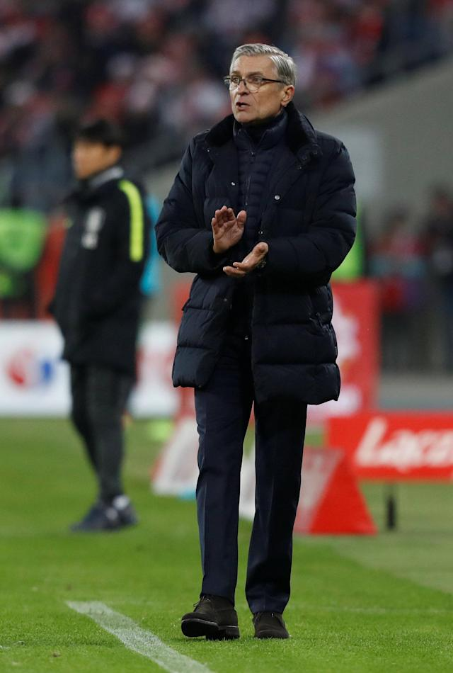 Soccer Football - International Friendly - Poland vs South Korea - Silesian Stadium, Chorzow, Poland - March 27, 2018 Poland coach Adam Nawalka REUTERS/Kacper Pempel