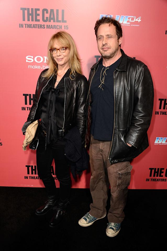 "HOLLYWOOD, CA - MARCH 05:  Actors Rosanna Arquette and Richmond Arquette arrive at the premiere Of Tri Star Pictures' ""The Call"" at ArcLight Cinemas on March 5, 2013 in Hollywood, California.  (Photo by Frazer Harrison/Getty Images)"