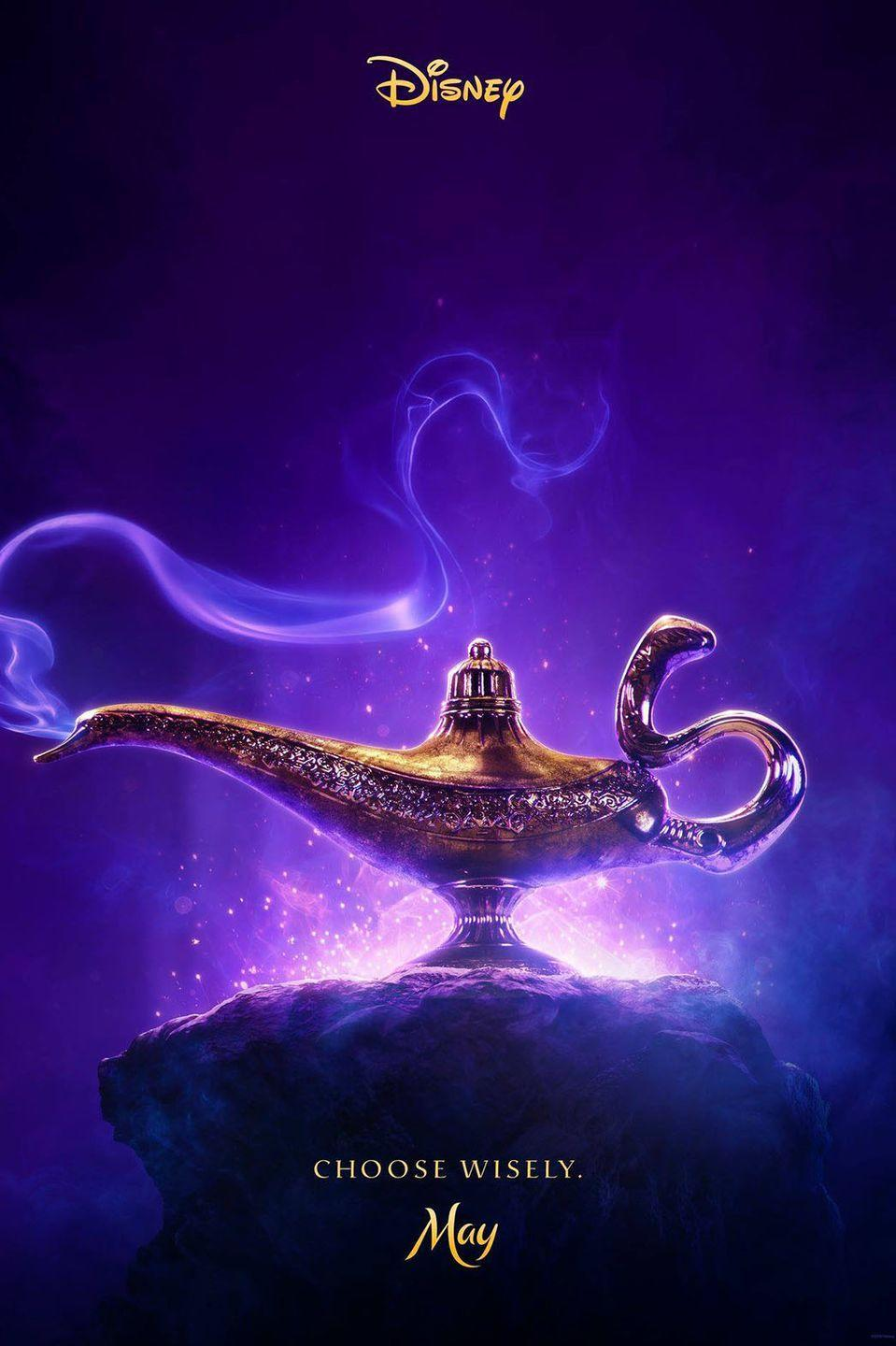 """<p>Disney originally announced a prequel called <em>Genies </em>that would delve into Genie's backstory, then scrapped the idea in favor of <a href=""""https://www.seventeen.com/celebrity/movies-tv/news/a43236/disneys-aladdin-is-officially-getting-a-live-action-remake-with-a-key-change-that-might-make-you-nervous/"""" rel=""""nofollow noopener"""" target=""""_blank"""" data-ylk=""""slk:moving forward with the original Aladdin story"""" class=""""link rapid-noclick-resp"""">moving forward with the original <em>Aladdin</em> story</a>. Guy Ritchie directed the film and Mena Massoud starred as Aladdin. Will Smith plays the iconic Genie while <em>Lemonade Mouth </em>and <em>Power Rangers </em>star Naomi Scott is Jasmine. </p>"""