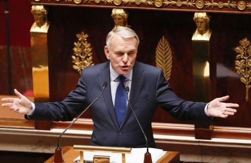 French Prime Minister Jean-Marc Ayrault said the aim of the belt-tightening was to have a balanced budget in 2017