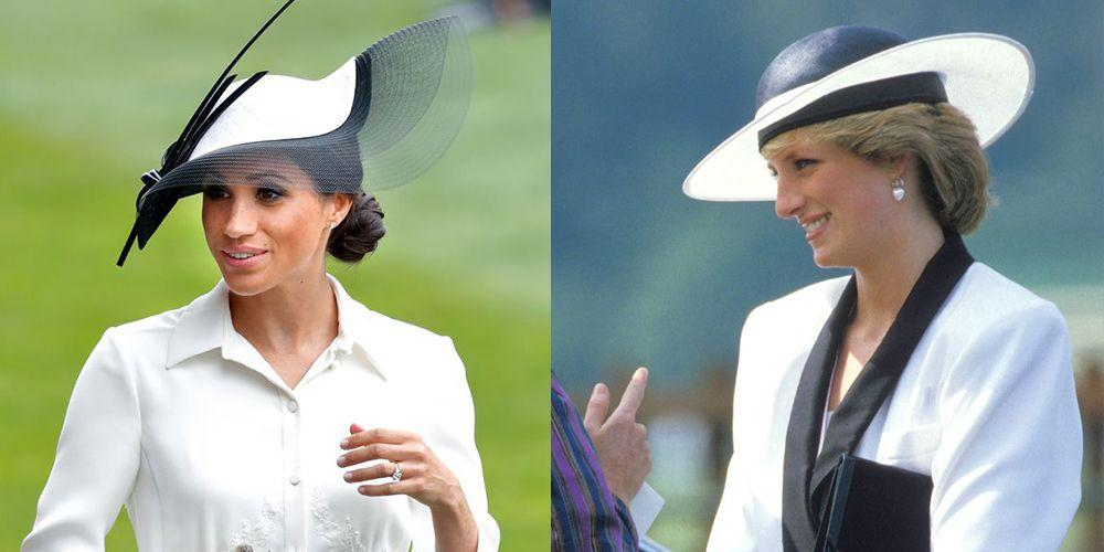 <p>Since joining the royal family, Meghan Markle has been a fashion inspiration to women around the world with her chic, modern looks. But who is her style icon? Even though Meghan never had the chance to meet Prince Harry's mom, Princess Diana, their aesthetic choices can look eerily similar. Here are their best twinning moments. </p>