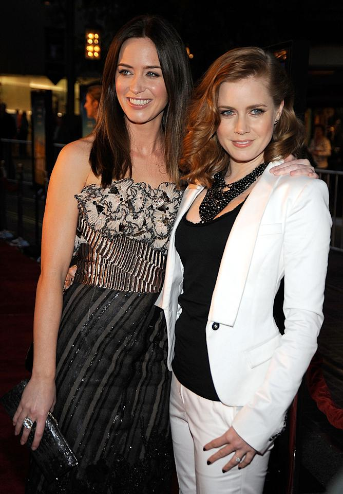"""<a href=""""http://movies.yahoo.com/movie/contributor/1808577445"""">Emily Blunt</a> and <a href=""""http://movies.yahoo.com/movie/contributor/1800018895"""">Amy Adams</a> at the Los Angeles premiere of <a href=""""http://movies.yahoo.com/movie/1809823943/info"""">Sunshine Cleaning</a> - 03/09/2009"""