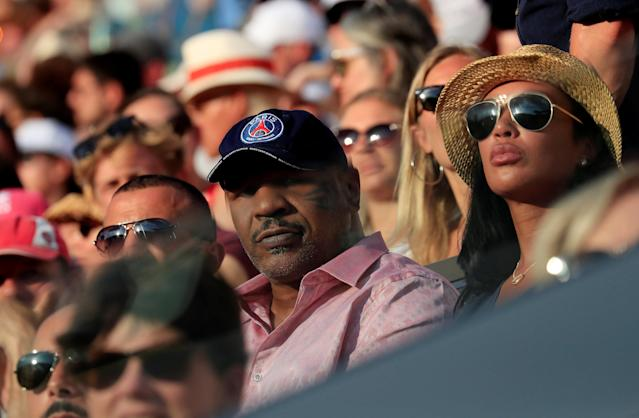Tennis - French Open - Roland Garros, Paris, France - June 2, 2018 Fromer boxer Mike Tyson looks on during the third round match betwenn Serena Williams of the U.S. and Germany's Julia Goerges REUTERS/Gonzalo Fuentes
