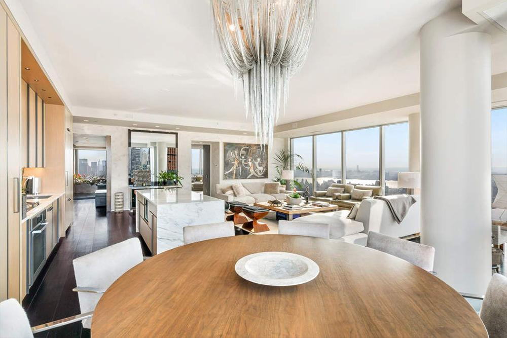 <p>The 3,310 square-foot penthouse has three bedrooms and three-and-a-half bathrooms. It's open plan, and has floor-to-ceiling windows. Source: Sotheby's International Realty </p>