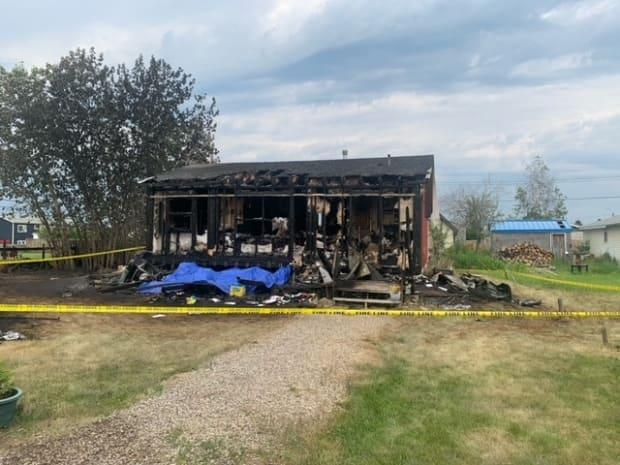 'It's surreal to have nothing—just personal items,' said Martha Norwegian, who lost her Fort Simpson home to a fire while she was visiting Yellowknife.  (Submitted by Sean Whelly - image credit)
