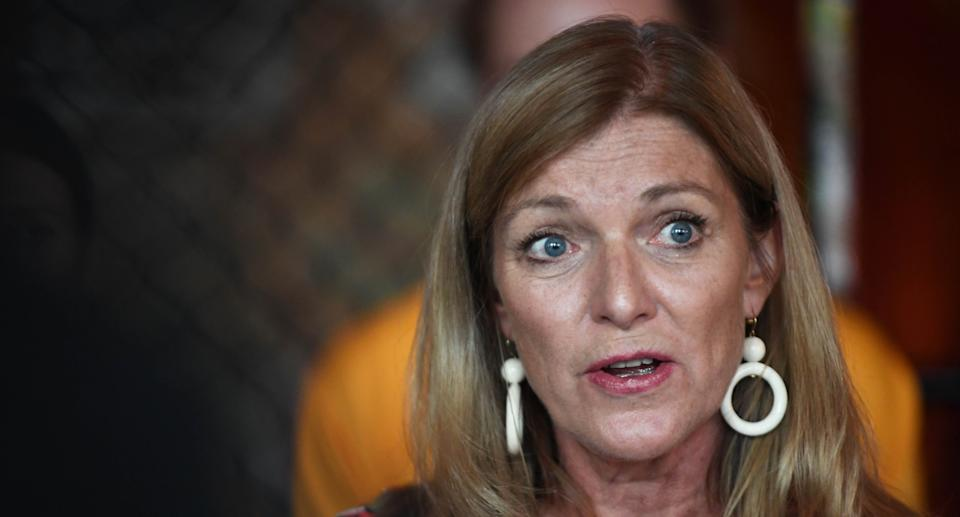Victorian Reason Party leader Fiona Patten addresses the media at Revolver Upstairs Night Club, Prahran, Melbourne, Wednesday, January 16, 2019. Student for Sensible Drug Policy have launched their campaign