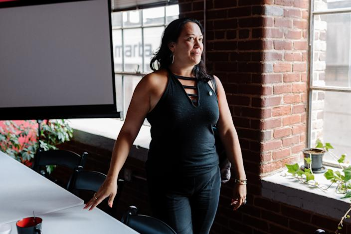 Xocchitil Bervera, director of the Racial Justice Action Center, at the nonprofit's office in downtown Atlanta. (Photo: Lynsey Weatherspoon for Yahoo News)