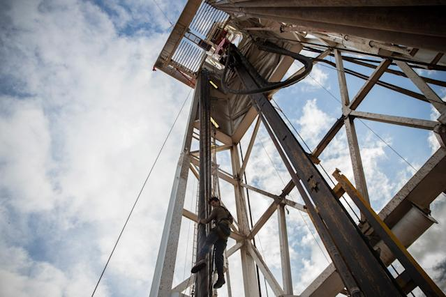 The oil sector has undergone significant transformation with horizontal drilling and hydraulic fracturing (Photo by Andrew Burton/Getty Images)