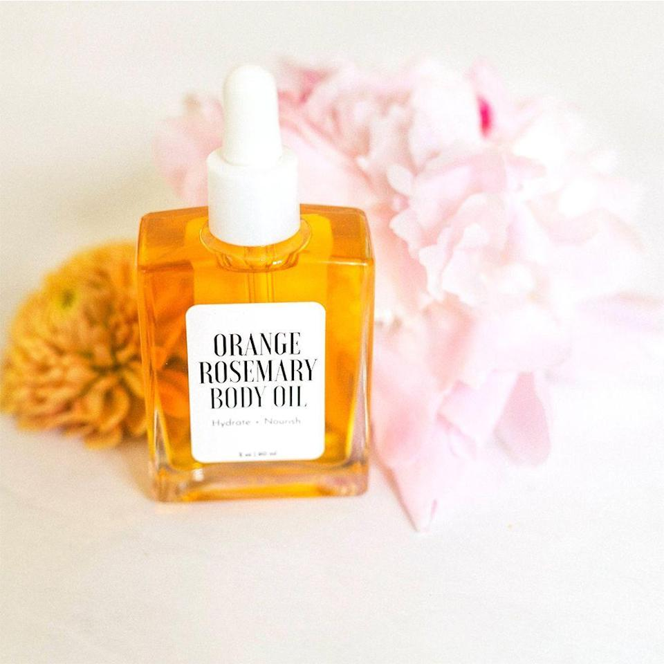 """<p><strong>BrownButterBeauty</strong></p><p>etsy.com</p><p><strong>$32.00</strong></p><p><a href=""""https://go.redirectingat.com?id=74968X1596630&url=https%3A%2F%2Fwww.etsy.com%2Flisting%2F861133337%2Fa-beautiful-mess-x-etsy-orange-rosemary&sref=https%3A%2F%2Fwww.bestproducts.com%2Fbeauty%2Fg120%2Fgifts-for-girlfriend%2F"""" rel=""""nofollow noopener"""" target=""""_blank"""" data-ylk=""""slk:Shop Now"""" class=""""link rapid-noclick-resp"""">Shop Now</a></p>"""