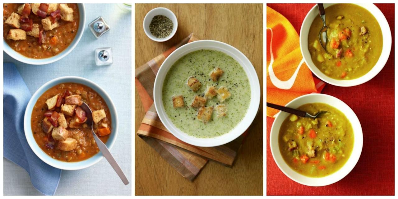 <p>When the leaves begin to fall and there's a chill in the air, it's soup season. These wonderful recipes use fall's bounty of produce and flavors to create meals that will warm you up and keep you satisfied.</p>
