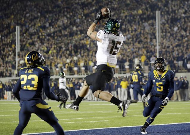 Colt Lyerla was a star tight end at Oregon. (AP)