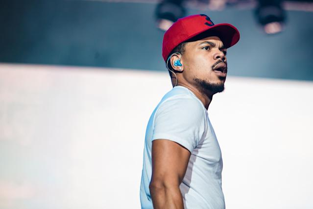 Chance the Rapper performs live onstage during the first day of Lollapalooza Brazil at Interlagos Racetrack on March 23, 2018, in Sao Paulo. (Photo: Mauricio Santana/Getty Images)