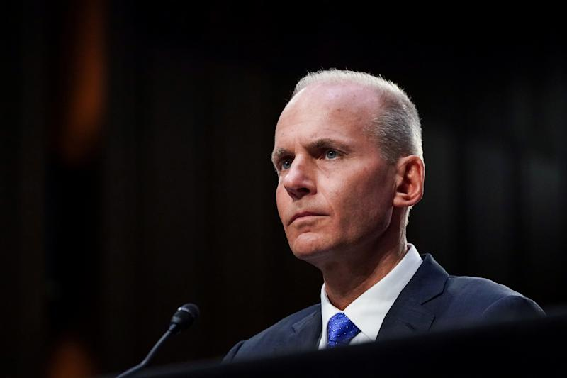 FILE PHOTO: Boeing CEO Muilenburg testifies before Senate Commerce, Science and Transportation hearing on grounded 737 MAX on Capitol Hill in Washington