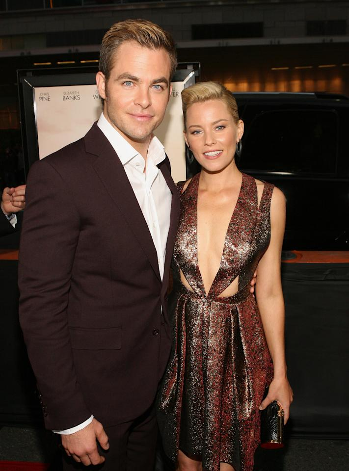 LOS ANGELES, CA - JUNE 15:  Actors Chris Pine and Elizabeth Banks attend the 2012 Los Angeles Film Festival Premiere of 'People Like Us' at Regal Cinemas L.A. LIVE Stadium 14 on June 15, 2012 in Los Angeles, California.  (Photo by Jesse Grant/Getty Images)