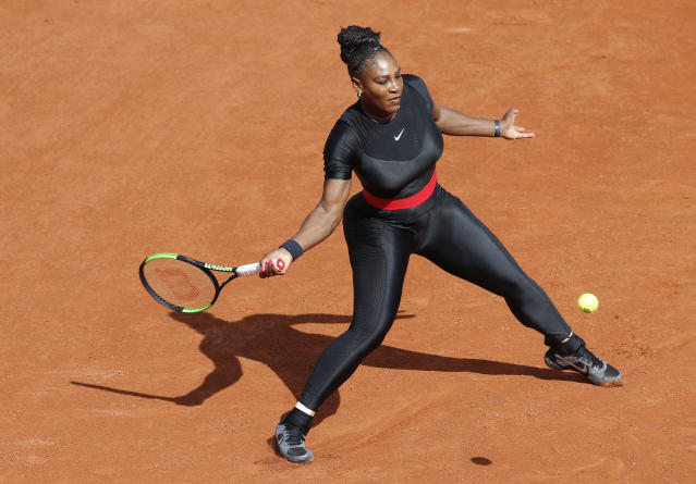 Serena Williams at the French Open tennis tournament at the Stade Roland Garros in Paris, May 29, 2018. (Photo: AP/Michel Euler)