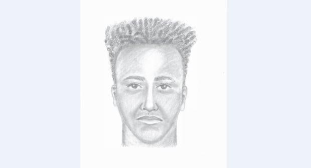 RCMP have released a composite sketch of a suspect in the July 9 sexual assault of a woman as she walked in the 14200-block of 104 Avenue at the southwest corner of Hawthorne Park. (Surrey RCMP - image credit)