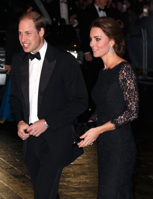 Prince William and Kate dressed in black at Royal Variety Performance