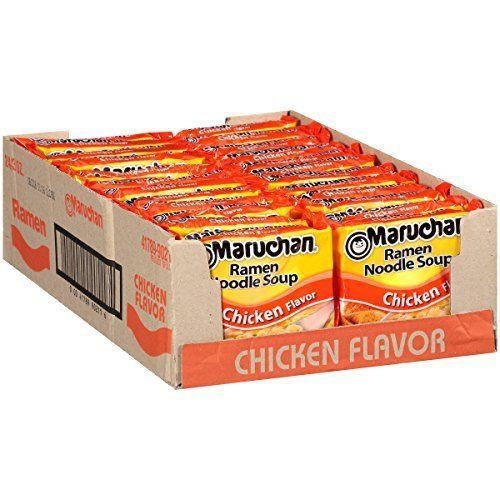 """<p><strong>Maruchan</strong></p><p>amazon.com</p><p><strong>$5.52</strong></p><p><a href=""""https://www.amazon.com/dp/B07222R3Y5?tag=syn-yahoo-20&ascsubtag=%5Bartid%7C10049.g.32793292%5Bsrc%7Cyahoo-us"""" rel=""""nofollow noopener"""" target=""""_blank"""" data-ylk=""""slk:Shop Now"""" class=""""link rapid-noclick-resp"""">Shop Now</a></p><p>Okay, fine, the idea of a poor college kid subsisting on instant ramen is pretty clichéd at this point. But the thing is, ramen gained its reputation as a dorm-room staple for good reasons—it's super tasty, very cheap, and wildly easy to prepare. </p>"""