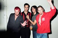 <p>Scott Weiland and Stone Temple Pilots during 1993 MTV Movie Awards at Sony Studios in Culver City, California.</p>