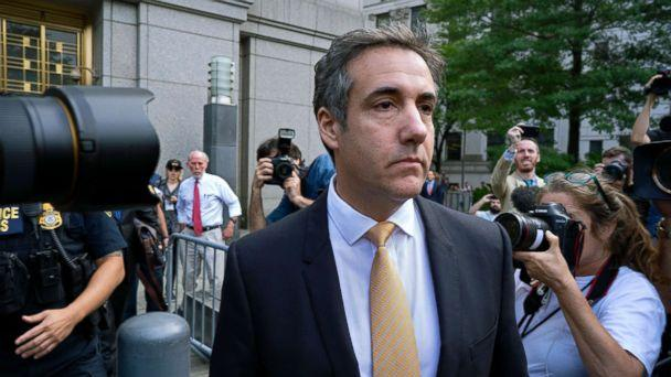 PHOTO: Michael Cohen, former personal lawyer to President Donald Trump, leaves federal court in New York, Aug. 21, 2018. (Craig Ruttle/AP, FILE)