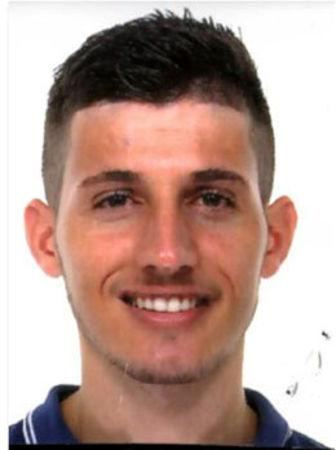 Haziraj Dake from Kosovo, arrested by Italian Police, is seen in this handout picture released by Italian police