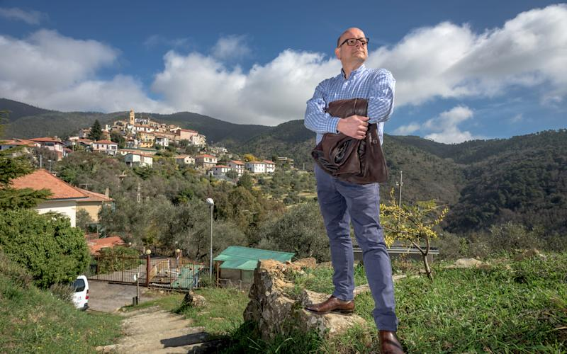 Mark Dezzani, a Radio Caroline DJ from Crawley, West Sussex, who is campaigning to become Prince of the Principality of Seborga in Liguria - Andrew Hasson