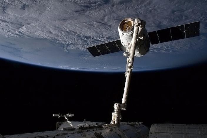 The SpaceX Dragon capsule has been docked in orbit with the International Space Station (ISS) since September 23 (AFP Photo/Chris Hadfield)