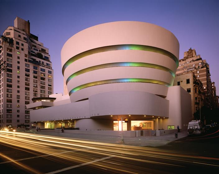 "<h1 class=""title"">Dan Flavin</h1> <div class=""caption""> The Solomon R. Guggenheim Museum in New York City, completed in 1959, is considered one of Wright's most iconic projects and remains one of the most noteworthy buildings in the U.S. </div> <cite class=""credit"">Photo: David Heald / Courtesy of the Solomon R. Guggenheim Foundation</cite>"