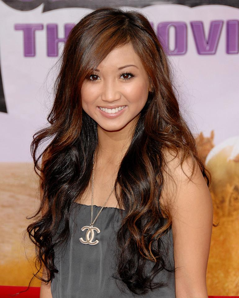 """<a href=""""http://movies.yahoo.com/movie/contributor/1804517291"""">Brenda Song</a> at the Los Angeles premiere of <a href=""""http://movies.yahoo.com/movie/1810025272/info"""">Hannah Montana The Movie</a> - 04/02/2009"""