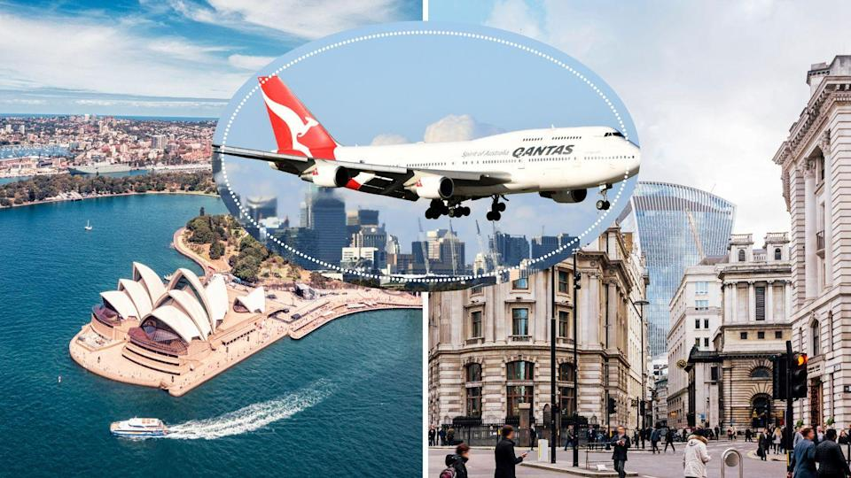 Sydney to London direct flights are closer than you think. Images: Getty
