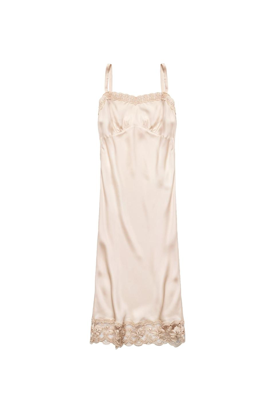 <p><span>Simone Rocha x H&amp;M Satin Slip Dress</span> ($70).</p>