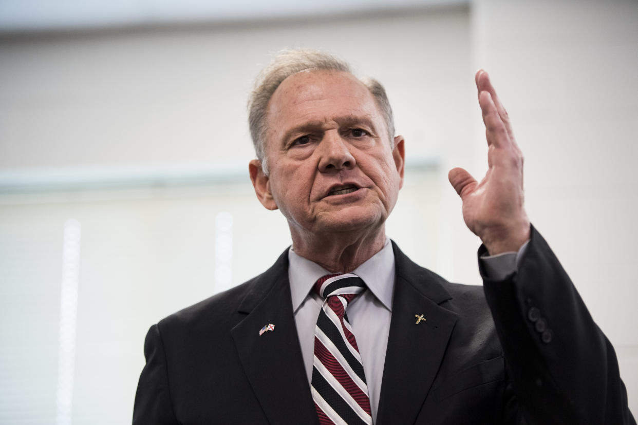 GOP candidate for U.S. Senate Roy Moore speaks during a candidates' forum in Valley, Ala., Aug. 3, 2017. (Photo: Bill Clark/CQ Roll Call/Getty Images)