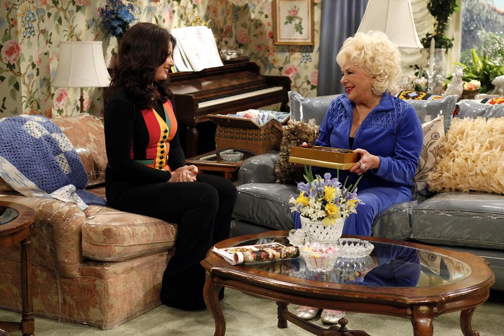"Fran Drescher as Fran and Renee Taylor as Marilyn in ""Happily Divorced."""