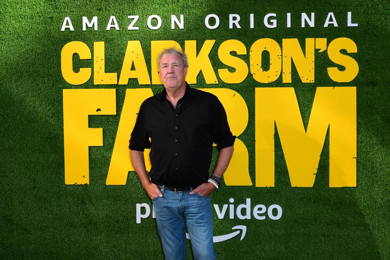 Jeremy Clarkson attends the Amazon Prime Video launch event for Clarkson's Farm at the St. Pancras Renaissance Hotel in London. Picture date: Wednesday June 9, 2021.