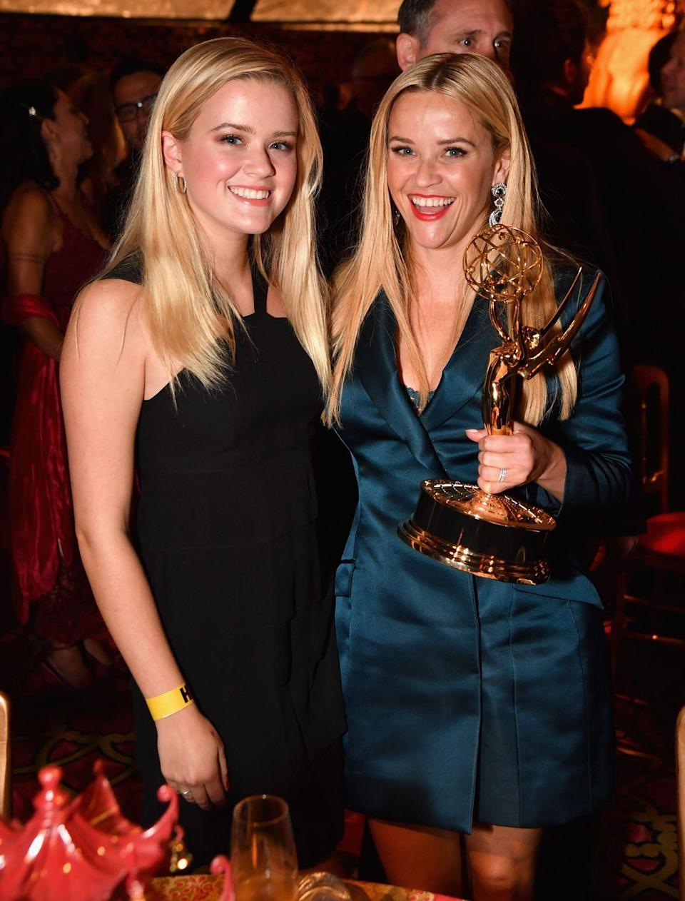 <p>The pair celebrated together at the HBO's Official 2017 Emmy After Party following Reese's big win</p>