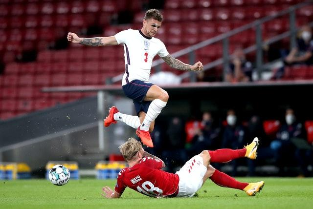 Right-footed Kieran Trippier was selected at left wing-back against Denmark
