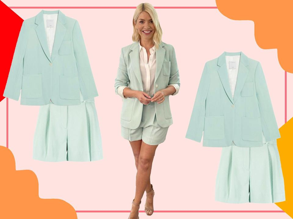 Holly's gone for a minty fresh two-piece for Thursday's show (@hollywilloughby/The Independent)