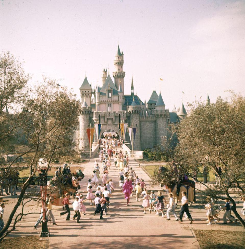 "<p>On July 17, Disneyland opens. It initially cost $17 million to build. </p><p><em>RELATED: <a href=""https://www.goodhousekeeping.com/life/travel/g4479/disney-theme-park-hidden-secrets/"" rel=""nofollow noopener"" target=""_blank"" data-ylk=""slk:10 Magical Secrets You Didn't Know About Disney Parks"" class=""link rapid-noclick-resp"">10 Magical Secrets You Didn't Know About Disney Parks</a></em></p>"