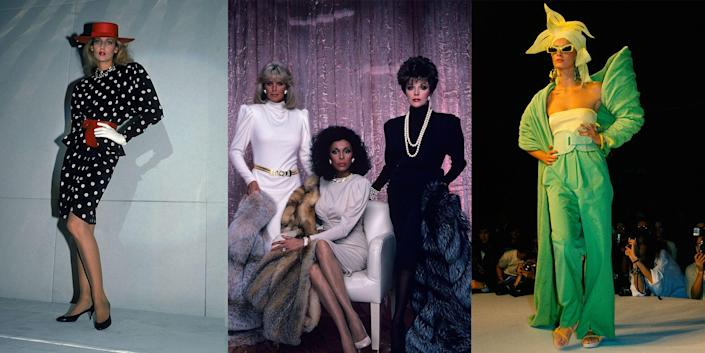 <p>The 1980s were a decade of bold style, colors, and silhouettes—and heaping amounts of permed hair. With trends spanning ripped tights and biker jackets, polished oversized blazers and poof skirts; and style icons ranging from Joan Jett to Joan Collins, it was one of the most eclectic decades in fashion. Like it or not, the '80s are back in full force. From shoulder pads to power suits and all that's in between, some of the era's key looks are making a comeback in fashion. Get inspired by taking a look back at some of the most memorable and defining style moments of the decade. </p>